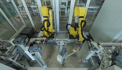 Robot deburring Center